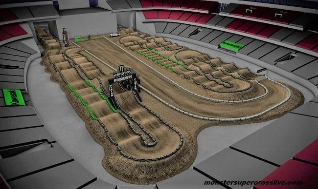 Monster Energy Cup Track Map